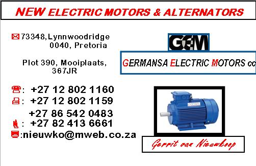 New electric motors alternators business card south african new electric motors alternators business card reheart Image collections